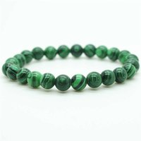 Wholesale Wholesale Strands Crystals - 12pcs\lot Natural Malachite Beaded Bracelet Turquoise Amethyst Rose Quartz Strand Bracelets Natural crystal stone wholesale