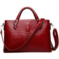 Wholesale Laptop Shoulder Leather - women top-handle bags business handbags PU leather wedding dress bag ladies crocodile shoulder crossbody bag office laptop sac