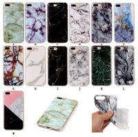 Wholesale New Iphone 4s Cases - New TPU Marble Stripe Case for iPhone 7 Plus 6 6S Plus 5 5S 5C SE 4S Touch6 Back Cover