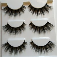 Wholesale Big False Eye Lashes - New 3D Mink False Eyelashes Natural Long Crisscross Thick Messy Soft Fake Lashes Beauty Makeup Stage Stereo Fashion Lashes Eye Big Tool