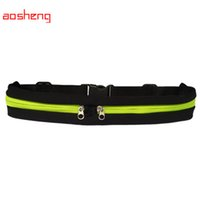 Venta al por mayor- hombres al aire libre de la cintura de los hombres empaqueta los bolsos Unisex Sport Running Waistband for Samsung for iphone Smartphones Travel Belt Bag