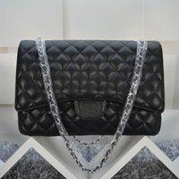 Wholesale Double Flap - women's Classcial Double Flap Bag 33CM Maxi Quilted Chain Caviar Leather Bag