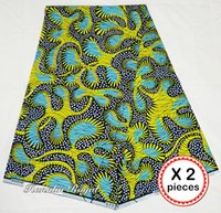 Wholesale Super Hollandais Wax Prints Fabric - African super wax hollandais prints Real African Hollandaise wax fabric 2 pieces per lot 12 yards total