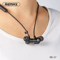 Wholesale Race Hd - Remax Magnetic Neckband Headset RB-S7 Sport Racing Bluetooth Wireless Headsets noise reduce Headphones HD with mic for mobilephone