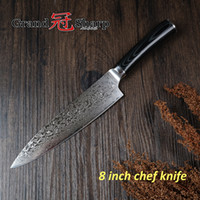 Wholesale Vg Free - Grandsharp 8 Inch Chef Knife 67 Layers Japanese Damascus Stainless Steel VG-10 Core Kitchen Knives Cooking Tool FREE SHIPPING