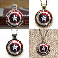 Wholesale shield pendants - 10pcs Captain Amera's mighty shield pendant Necklace keyring bookmark cufflink earring bracelet