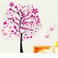decoração da árvore de amor venda por atacado-Adesivos de parede Para O Quarto Eco Friendly Árvore de Amor Decalques Berçário À Prova D 'Água PVC Wall Art Home Decor Adesivo Venda Quente 7lk J R