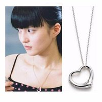 Wholesale Heart Necklaces For Cheap - Wholesale-015 Fashion Exo Cheap Necklace Collares Bijoux Heart Pendants Necklaces For Women Wedding Jewelry Accessories Choker Girl Party