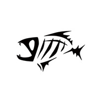 Wholesale Guys Cars - 2017 Hot Sale Car Stying Personality Skeloton Fish Tribal Decal Sticker Fishing Man Guy Boat Car Jdm
