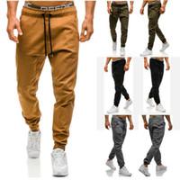 Wholesale Male Khaki Pants - Men Joggers 2017 New Casual Pants Men Brand Clothing High Quality Spring Long Khaki Pants Elastic Male Trousers Mens Joggers 3XL