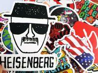 fahrradwörter großhandel-Beste Qualität Matt 100 stücke Auto Aufkleber Bunte Skateboard Graffiti Aufkleber Laptop Fahrrad Motorcyle Auto Stying DIY Coole Aufkleber