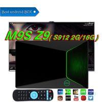 tv андроиды палочки оптовых-М9 Z9 коробка TV коробка Amlogic S912 2 ГБ 16 ГБ ОТТ ТВ восьмиядерный двойной беспроводной Bluetooth 4.0 UHD с разрешением 4K 3D для Android7.1 Смарт-Android Палку