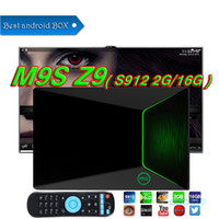 M9S Z9 TV-Box Amlogic S912 2GB 16G OTT TV Octa Core Dual WIFI Bluetooth 4.0 UHD 4K 3D Android7.1 Smart Android Stick