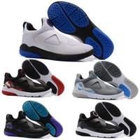 Wholesale Men White Shoes Strap - Cheap Retro Trainer Essential Zoom Men Runing Shoes Retros 8 Strap Black White Pure platinum Grey Sport Sneakers size 7-12