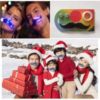 Flashing LED Moustache Creative Fake Bear Light Up Christmas Decor Novità regalo per adulti e bambini DHL gratis
