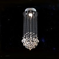 Wholesale spiral chandelier light crystal - Modern K9 Crystal Chandelier chain chandelier lighting Spiral Drop Crystal Lighting Chandeliers Stair Lights for Staircase
