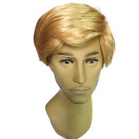 Wholesale Gold Lace Wig - 2017 newest toupee Donald J. Trump Comb Over adult Make America Great Again Trump for President GOP toupee
