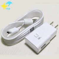 Wholesale 2a Wall - 2016 high quality 5V 2A 9V 1.67A Adaptive Fast Charging Travel Wall Charger +1.5m usb cable For Samsung Galaxy S6 Edge Plus Note 4 Note 5