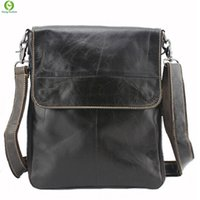 Wholesale Ipad Vintage - Wholesale- 100% Genuine Leather men bags men's briefcase vintage men Messenger bag Shoulder Bag Ipad shoulder coffer cowhide leather bags