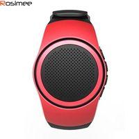умные часы hands free оптовых-Оптово-Smart Watch Bluetooth движение Музыкальные часы Портативные мини-часы Bluetooth 2.1 + EDR Спортивный динамик громкой связи / FM-радио / TF карта