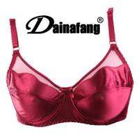 Wholesale Lingerie Bracelet - Size 34-42 Lace Crop Top Plus Size C D DD Cup Women Sexy Gold Silk Bras thin bracelet bras Lingerie Intimates Free Shipping