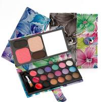 Wholesale blush eyeshadow lipstick resale online - 50pcs Professional Cheap Makeup Sets Multifounctional Lipstick Powder Blush Eyebrow Pigment Shimmer Eyeshadow Palette Colors F809 DHL