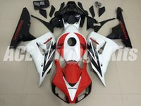Wholesale Red Black Full Fairing Kit - New Injection mold fairings for HONDA CBR1000RR 2006 2007 ABS Fairing kit CBR1000 RR CBR 1000RR 06 07 full fairing kit Red black white