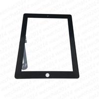 pantallas de ipad oem al por mayor-El panel de cristal de la pantalla táctil del OEM con el digitizador para el iPad 2 3 4 DHL blanco y negro que envía