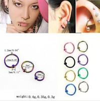 Wholesale Nipple Piercing Bead - 2017 New Bead Ring Ball Hoop Eyebrow Nipple Nose Lip rings hoop Body Piercing Jewelry