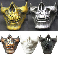 Skull Half Face Mask CS Military Skeleton Warrior 3 Gerações Masquerade Mask Halloween Party Half Mask