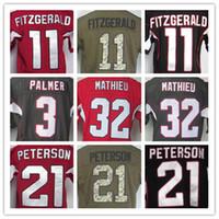 Wholesale Mathieu Football Jerseys - Men's Elite 3 Carson Palmer 11 Larry Fitzgerald 21 Patrick Peterson 32 Tyrann Mathieu Stitched Jerseys,Best Quality