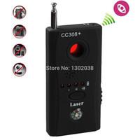 Wholesale Hd Bugs - Wholesale- Wireless Radio Wave Signal RF Camera Lens GPS Laser GSM WiFi Bug Detector Probe Monitor Anti SPY Candid Full-range CC308+