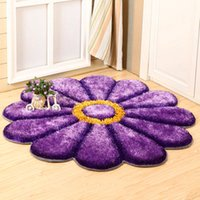 Wholesale D Sunflower Carpets Soft Floor Rugs Cozy Kids Playing Mats Home Living Room Area Rug JI0199