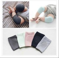 Wholesale Crawling Knee - Baby Knee Pads Crawling Girls Boys Combed cotton Protector Kids Kneecaps Children Short Kneepad Baby Leg Warmers 8 Colors Free Shipping