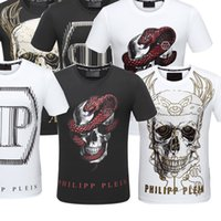 Wholesale Mens Sequins - 2017 2018 pp T-Shirts quality is very good high-end designer clothing, shape is the perfect Medusa Mens pp T-shirt is Asian code siz