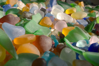 Wholesale Blue Glass Beads Bulk - 1 4 Lb Bulk Beach Sea Glass Beads Supply for Jewelry making Art Decorative Crafts Multicolor Mixed JCT ECO®