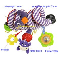 Vente en gros - Baby Toy Plush Multipurpose Bed Circle Round avec Sound Paper Mirror Caterpillar Bird Baby Girl Boy Toys Gift