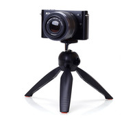 Wholesale slr stand - Mini Tripod Professional for Digital Camera SLR Handheld Selfie Tripod Stand Phone Mount Holder Support Rotatable Tripod Head
