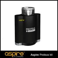 Wholesale Black E Hookah - Authentic Aspire Proteus e-hookah Kit A Dual 18650 Hookah Vaporizer With 10ml Tank 0.25ohm Coil Aspire Proteus electronic cigarettes