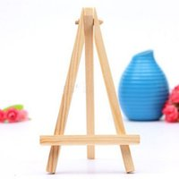 Wholesale wooden stand decoration - Wholesale- draw toy Mini Artist Wooden Easel Wood Wedding Table Card Stand Display Holder For Party Decoration 8*15cm 5pcs