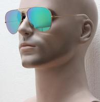 manteaux d'hiver colorés femmes achat en gros de-Drop shipping, solide et durable cadre doré mat lunettes de soleil flash coloré, verre à revêtement à la main cool lunettes de soleil femmes hiver style