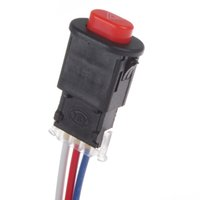 Wholesale Hazard Lights Switch - Universal Motorcycle Hazard Light Switch Button Double Flash Warning Emergency with 3 Wires Built-in Lock MOT_307