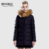 Wholesale Duck Collection - Wholesale- Warm Jacket And Coat For Women MIEGOFCE New Winter Collection 2016 High Quality Female Warm Parka Collar From Sable thick hood