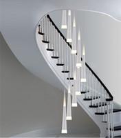 long escalera piezas llevaron luces colgantes espiral led escalera iluminacin lmparas colgantes escaleras