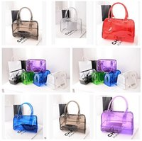 Wholesale Chocolate Candy Bucket - Designer Handbags Bags Transparent Bag 10 Colors Jelly Crystal Beach Luxury bags Candy Shoulder Bag for Women Handbag DHL Free Shipping