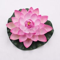 Wholesale lilies lotus for sale - Group buy Thanksgiving Decor Garden Artificial Fake Lotus Flower Foam Lotus Flowers Water Lily Floating Plants Wedding Garden Decoration