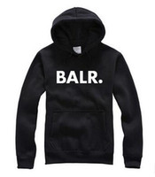Wholesale Circle Wool - European and American popular logo hot style BALR. Thin with circle of wool fleece printed letters turtleneck sweater coat