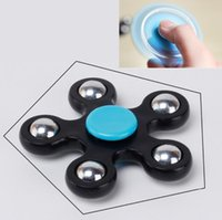 Wholesale Toys Color Red - Gyro Finger Spinner Fidget Plastic EDC Hand For Autism ADHD Anxiety Stress Relief Focus Toys Gift 5 Color hand spinner