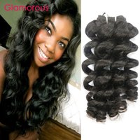 Wholesale brazilian ocean wave hair - Glamorous Malaysian Human Hair Weaves 4 Bundles Wavy Hair Wefts Original Human Hair 12-34inch Peruvian Malaysian Indian Ocean Wave In Stock
