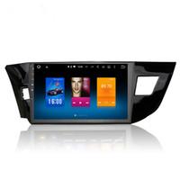 kadife telsiz gps toptan satış-Toyota Corolla için 2013 + Android 6.0 Octa Çekirdek Autoradio Araba Radyo Stereo GPS Navigasyon Multimedya Medya Sistemi Sat Nav HIÇBIR DVD